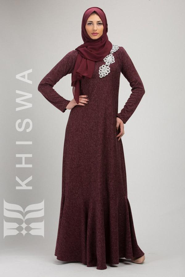 boutique outlet allacciarsi dentro super speciali Burgundy dress - Khiswa l Abaya, Dresses, Hijab
